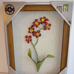 """Stratton Home Decor Wall Flowers Framed 9""""x12"""" New"""